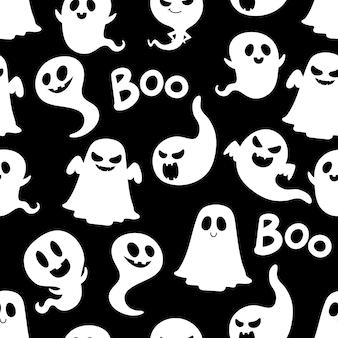 할로윈 유령 원활한 패턴입니다.