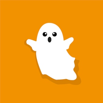Halloween ghost white ghost vector graphics