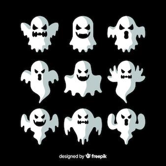 異なるポーズでハロウィーンの幽霊コレクション
