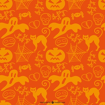 Halloween ghosts and pumpkins pattern