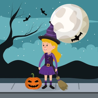Halloween and girl