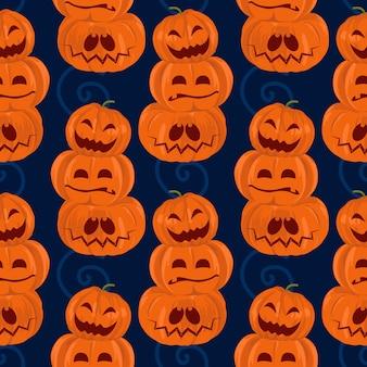Halloween green frankenstein and mummy seamless pattern