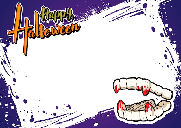 Halloween greeting card and background