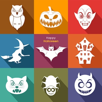 Halloween greeting card for the celebration of festival