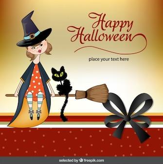 Halloween greeting in scrapbook style