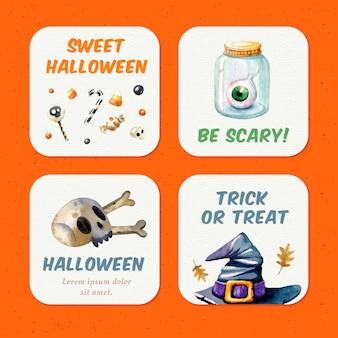 Halloween greeting set
