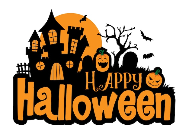 Halloween greeting vector template