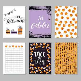 Halloween greetings card from handwritten lettering classic phrase for halloween