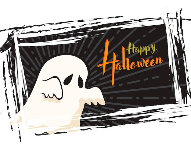 Halloween grunge background, with ghost
