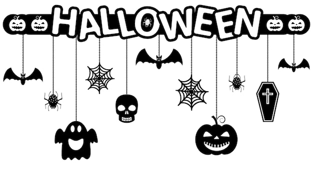 Halloween hanging ornaments background