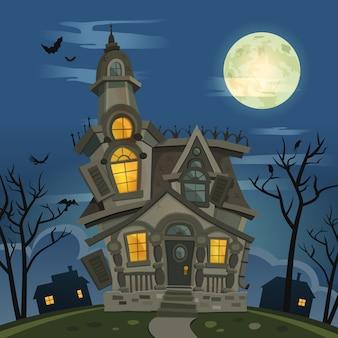 Дом с привидениями хэллоуина