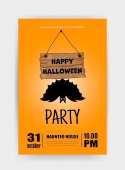 Halloween holiday card. cartoon style. vector illustration.