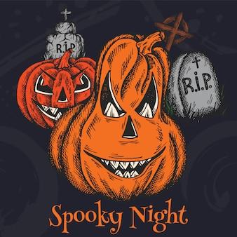 Праздник хэллоуина красочный мультфильм
