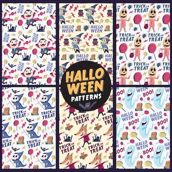 Halloween holiday seamless patterns background. isolated artwork object. suitable for and any print media.