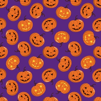 Halloween holidays pumpkin seamless pattern