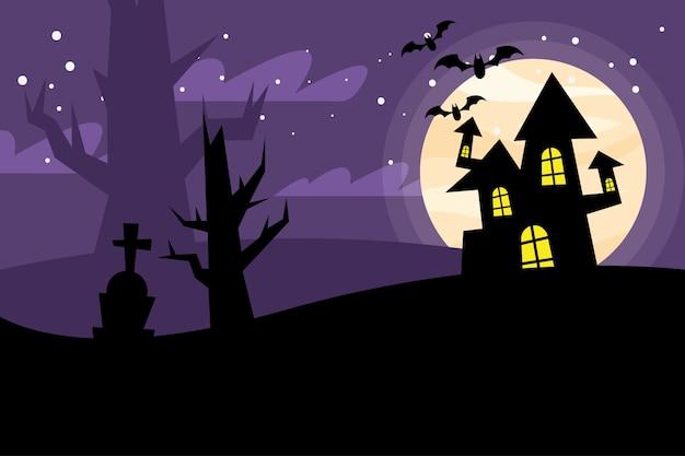 밤 디자인, 무서운 테마 할로윈 집