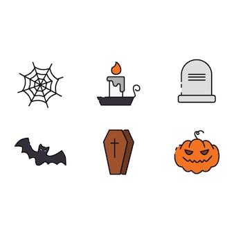 Пакет значков хэллоуина