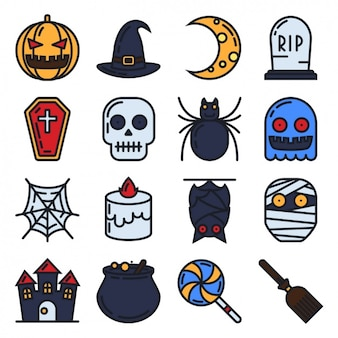 Icone di raccolta di halloween