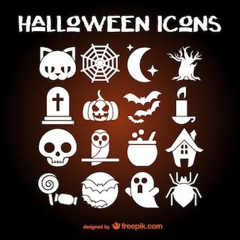 Halloween icons set Free Vector
