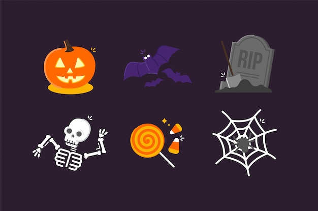 Halloween illustration icons