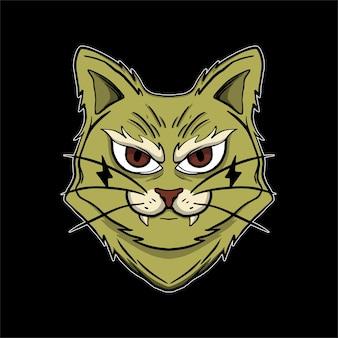 Tshirt에 대한 할로윈 그림 마술 고양이