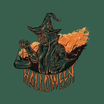 Хэллоуин иллюстрация