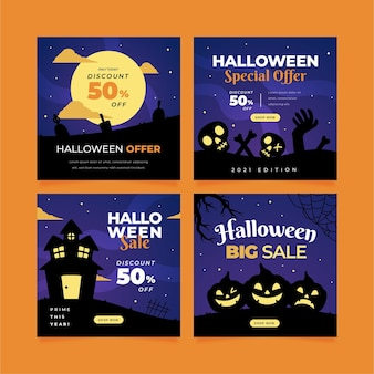 Raccolta di post di instagram di halloween