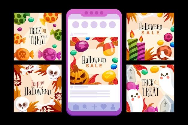 Шаблон сообщения в instagram на хэллоуин