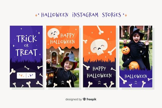 Collezione di storie di instagram di halloween