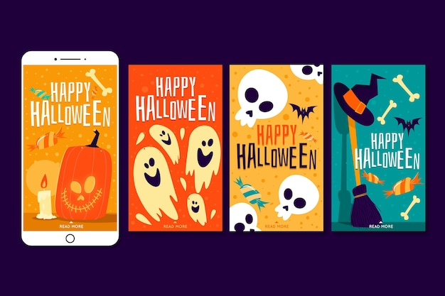 Halloween instagram stories collection