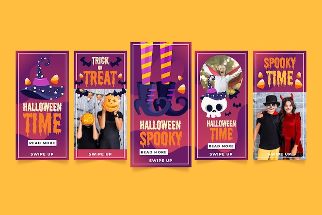 Halloween instagram stories collection