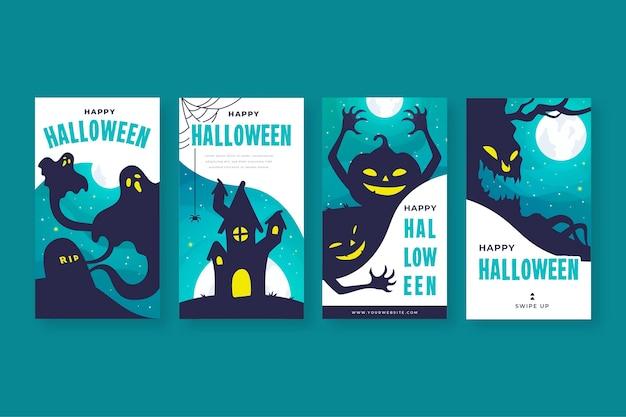 Raccolta di storie di instagram di halloween