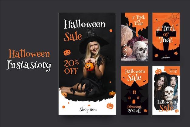 Halloween instagram stories set