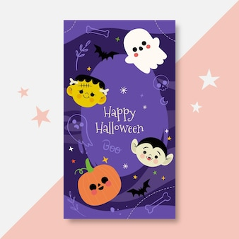 Halloween instagram story template