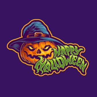 Halloween jack o lantern character design