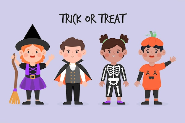Halloween kid collection concept