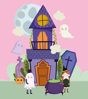 Дети хэллоуина в костюмах