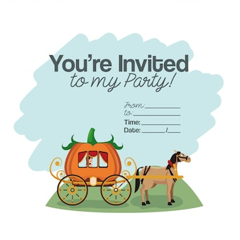 Halloween kids party card