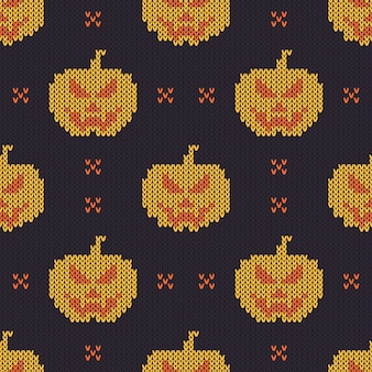 Halloween knitted pattern.