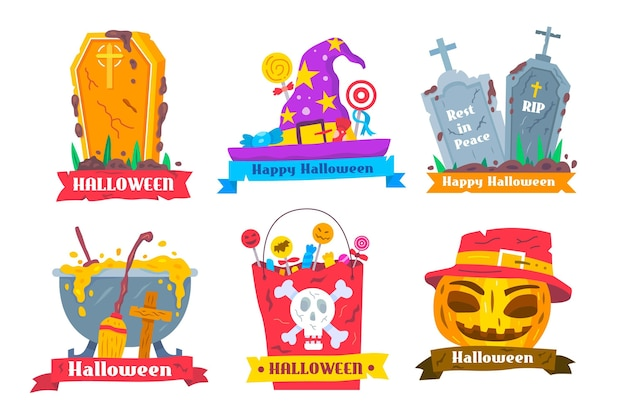 Collezione di etichette di halloween