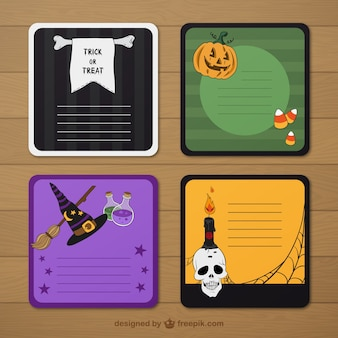 Halloween labels template
