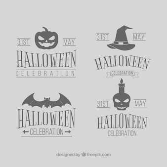 Halloween labels with classic style