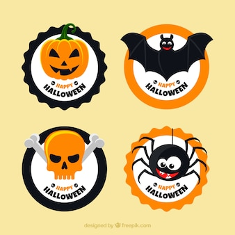 Halloween labels with funny style