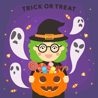 Хэллоуин леди ведьма