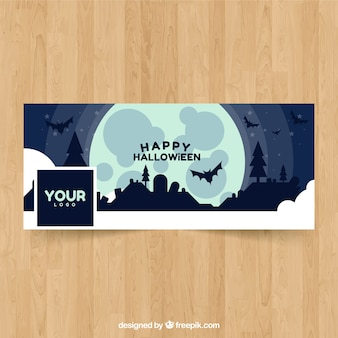Halloween landscape facebook cover