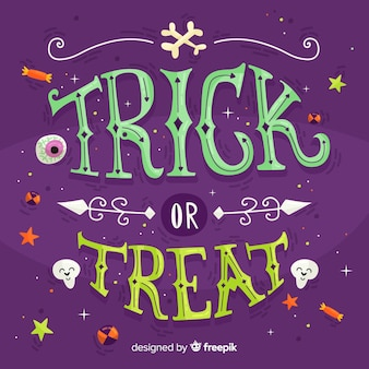 Halloween lettering background