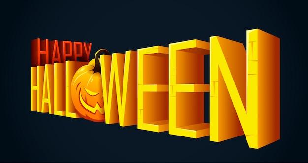 Halloween lettering banner