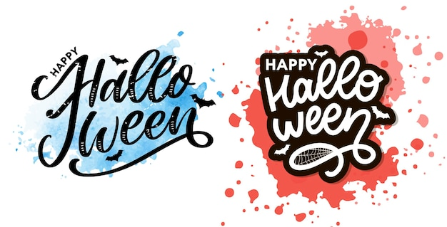 Halloween lettering greeting calligraphy text brush