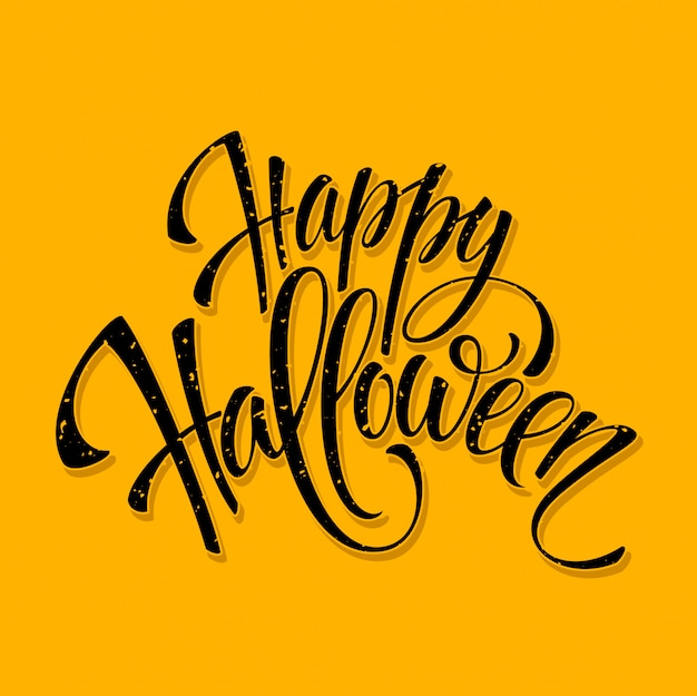 Halloween lettering greeting card.