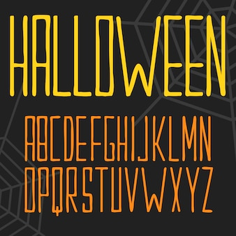 Halloween lettering with spider nets
